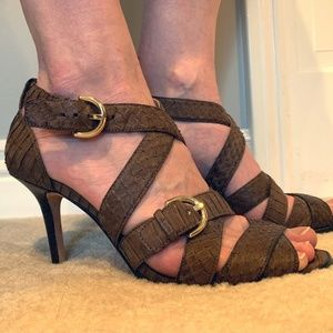 Coach Strappy Heels (Brown)